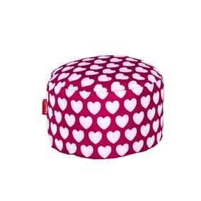 Pink Hearts Footstool