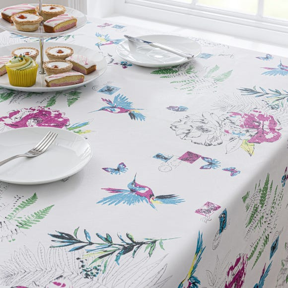 Heavenly Hummingbird PVC Tablecloth MultiColoured undefined