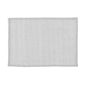 Braxton Stripe Black and White Placemat