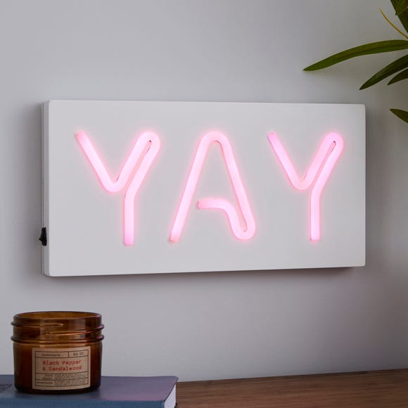 Yay Neon Effect Sign Light Pink