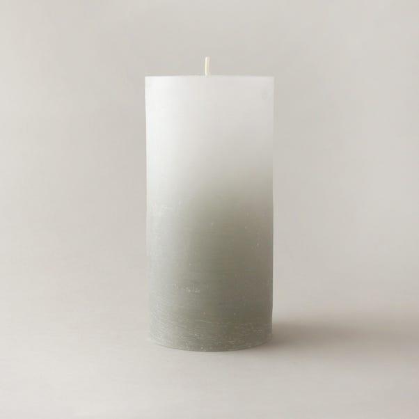Global Rustic Grey Pillar Candle Grey