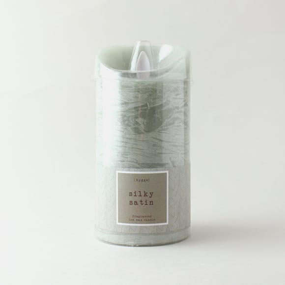 Hygge Eucalyptus Single LED Candle Green
