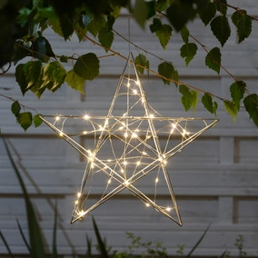 Outdoor Light-Up Metal Star Decoration