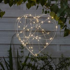 Outdoor Light-Up Metal Heart Decoration