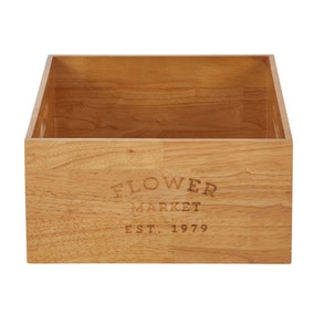 Wooden Farmers Market Crate
