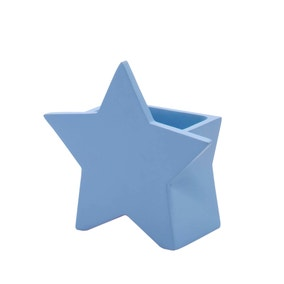 Blue Star Toothbrush Holder