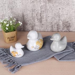 Set of 3 Ashbourne Ceramic Ducks