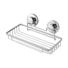 Twist n Lock Rectangle Single Tier Shower Caddy