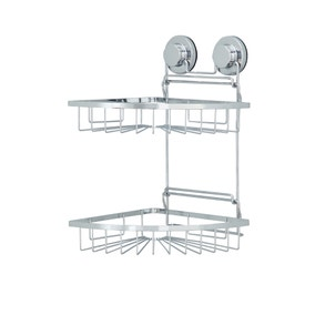 Twist n Lock Corner Two Tier Shower Caddy
