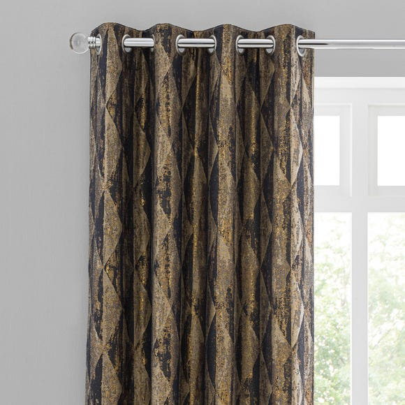 Luxor Metallic Blue Eyelet Curtains  undefined