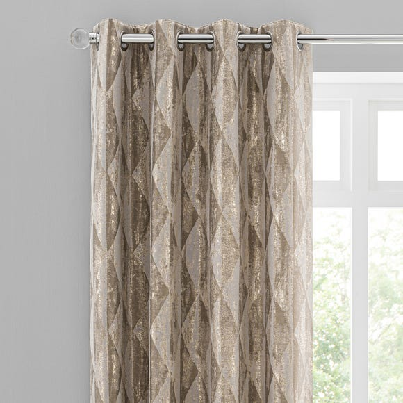 Luxor Metallic Champagne Eyelet Curtains  undefined