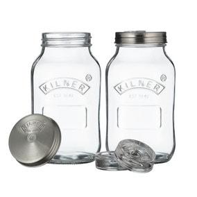 Kilner Set of 2 Fermentation 1 Litre Jars