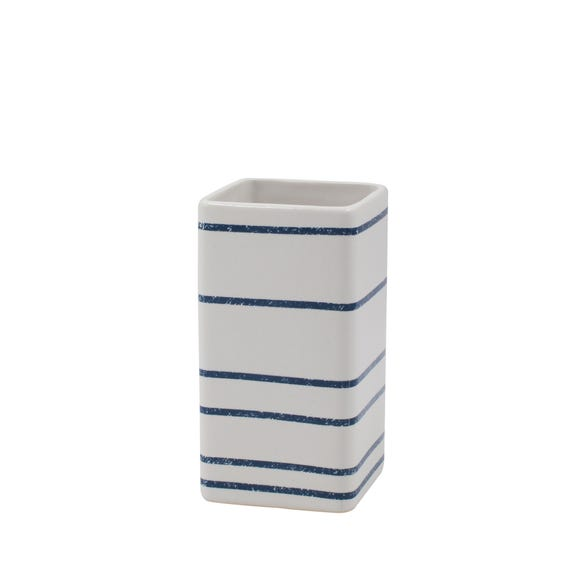 Nautical Stripe Ceramic Tumbler Blue