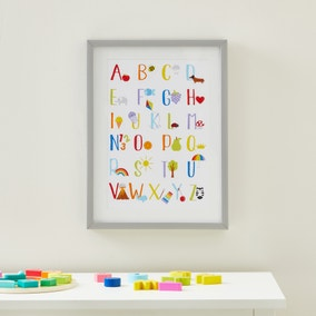 Rainbow Alphabet Framed Print