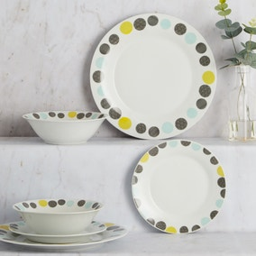 Dots 12 Piece Dinner Set