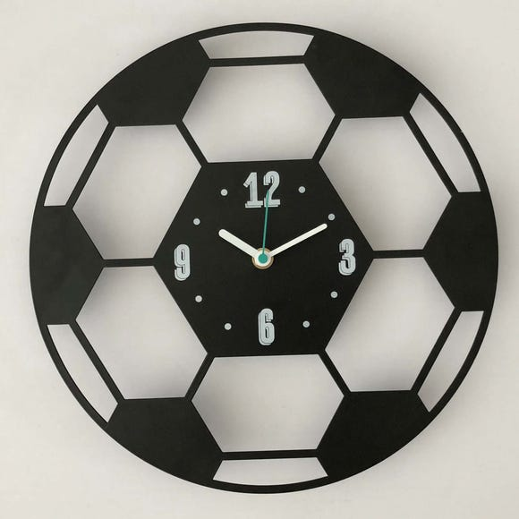 Football Clock Black