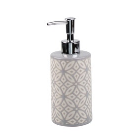 Geo Tile Grey Ceramic Lotion Dispenser