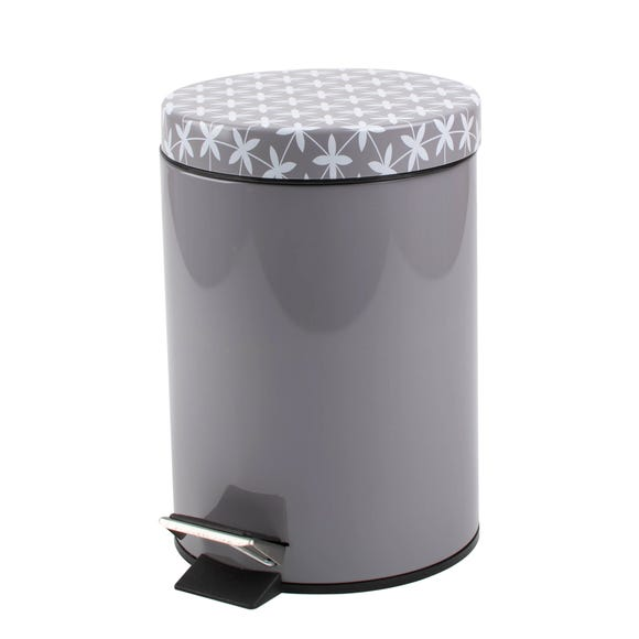 Geo Tile Grey Pedestal Bin Grey
