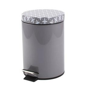 Geo Tile Grey Pedestal Bin