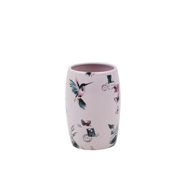 Heavenly Hummingbird Blush Tumbler Blue