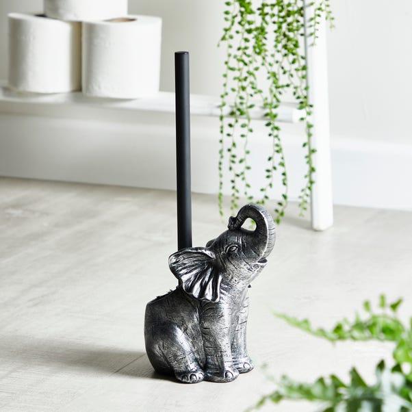 Elephant Toilet Brush Silver