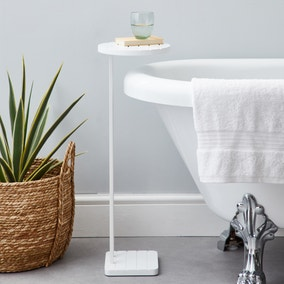 Tongue and Groove White Bath Table