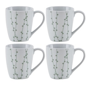 Sprig Pack of 4 Mugs