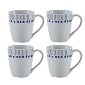 Coastal Stripe Pack of 4 Mugs