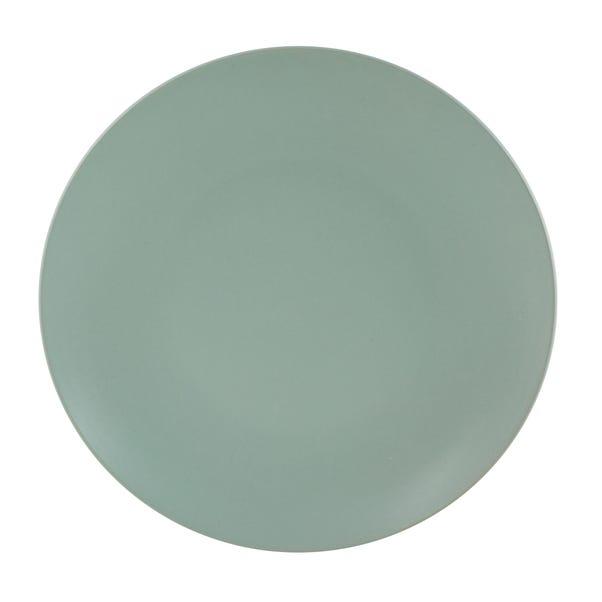 Stoneware Green Dinner Plate Green