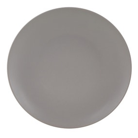 Stoneware Grey Dinner Plate