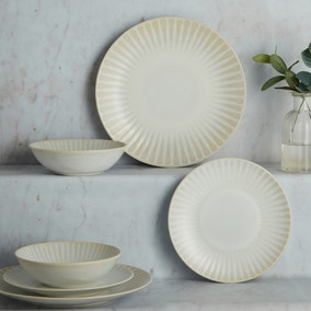 Sanctuary 12 Piece White Dinner Set