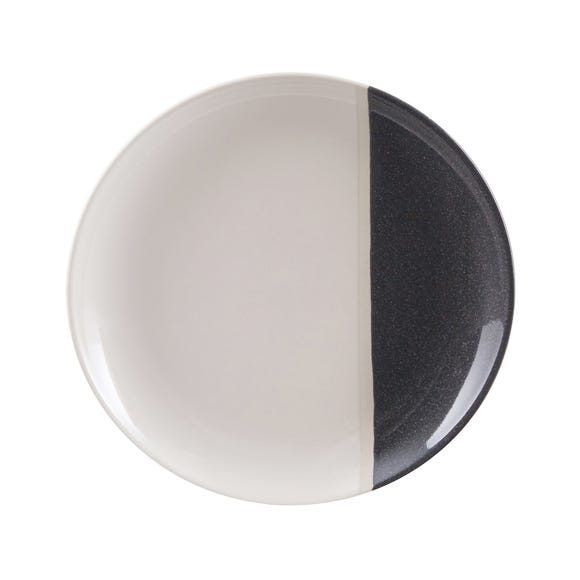 Elements Dipped Charcoal Side Plate Grey