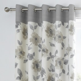 Adriana Natural Floral Eyelet Curtains