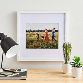 """White Oversized Mount Frame 10"""" x 8"""" (25cm x 20cm)"""
