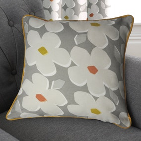 Aura Grey Floral Cushion