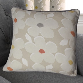 Aura Natural Floral Cushion