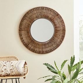 Seagrass Wall Mirror 71cm Natural