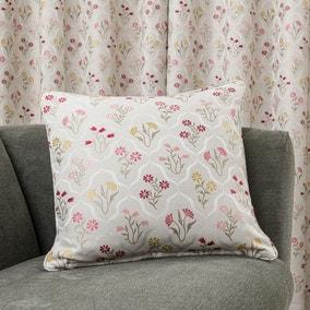 Fleur Floral Jacquard Pink Cushion