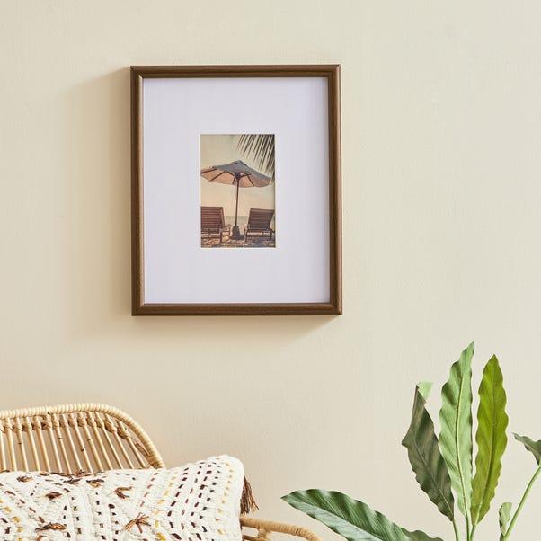 "Dark Wood Effect Oversized Frame 6"" x 4"" (15cmx 10cm) Brown"