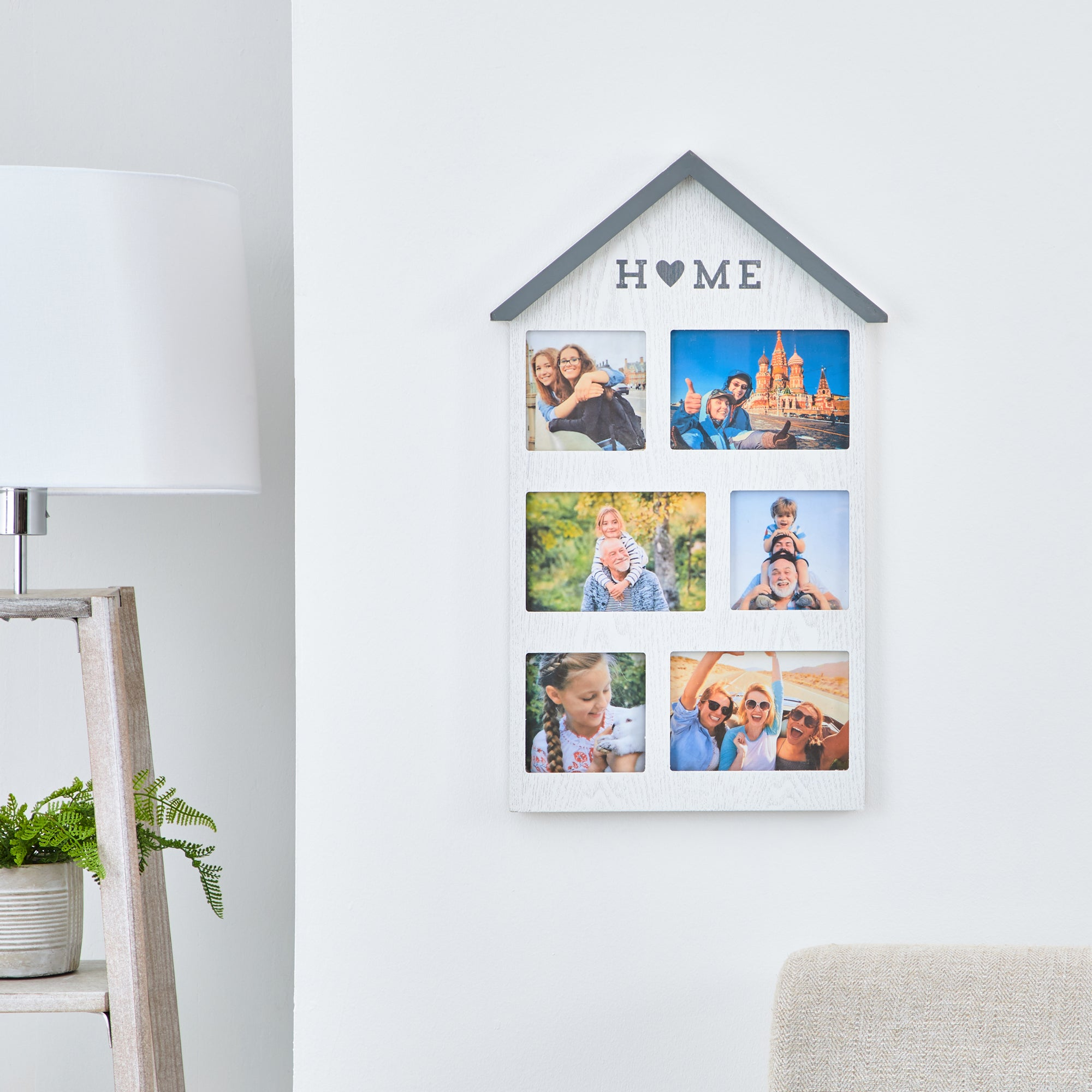 Click to view product details and reviews for House Multi App Photo Frame White.