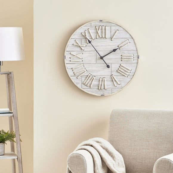 Rope 60cm Wall Clock White White