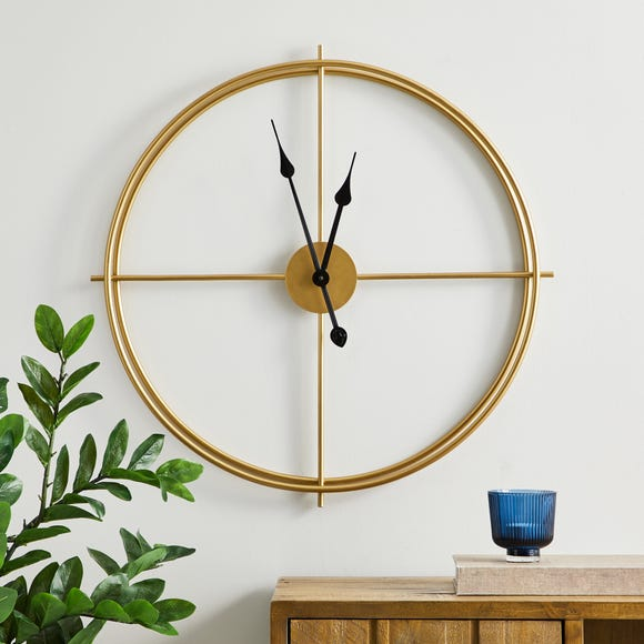Slim Frame 60cm Wall Clock Gold Gold