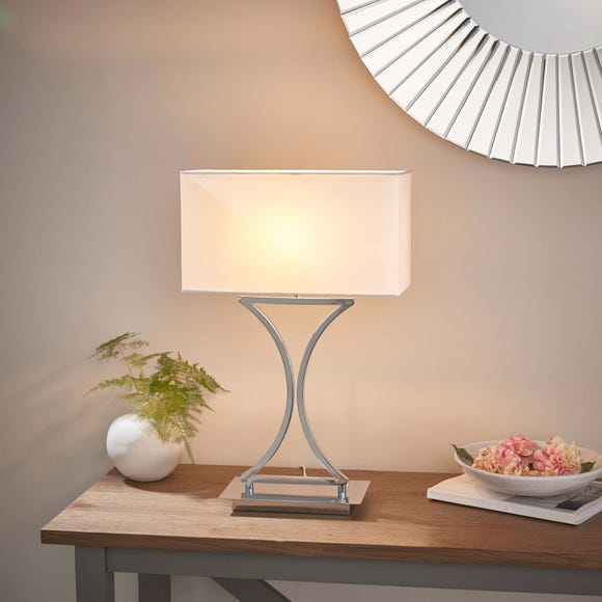 Endon Epalle Table Lamp Chrome Chrome