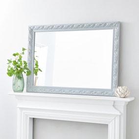 Decorative Wall Mirror 102x72cm Grey