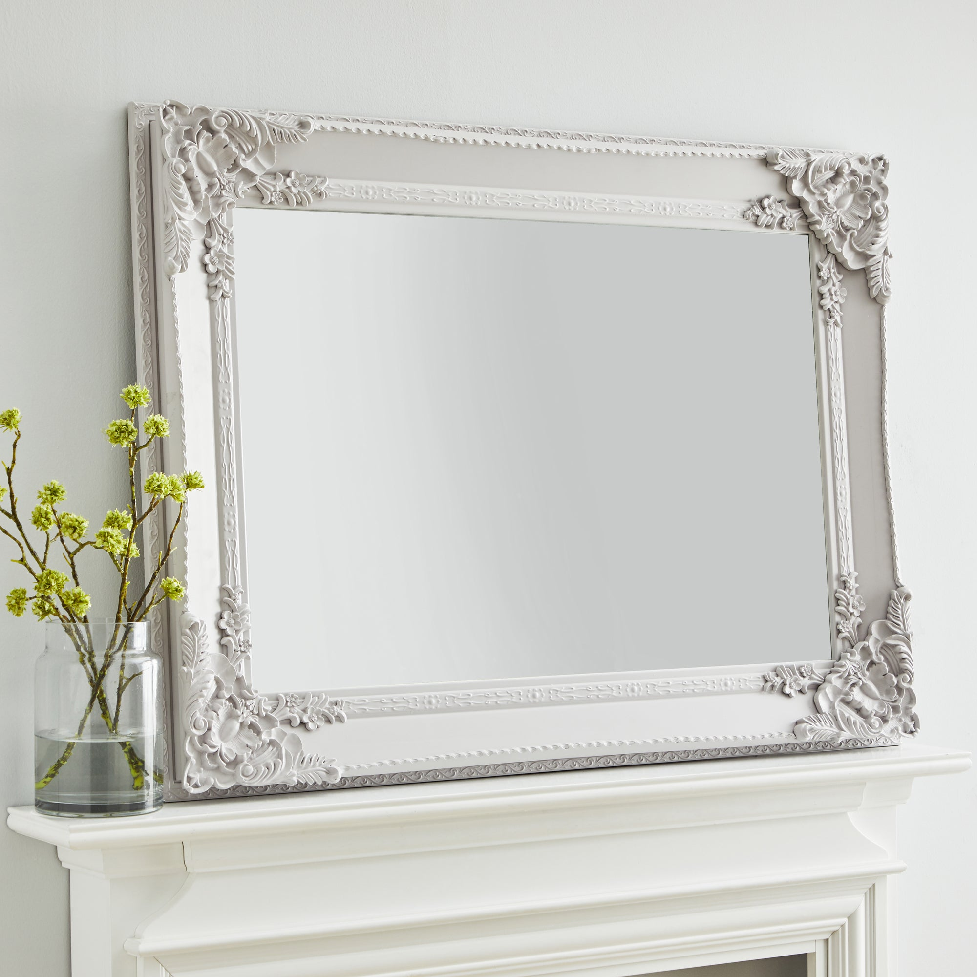 Click to view product details and reviews for Roma Wall Mirror 113x 83cm Soft Grey Grey.