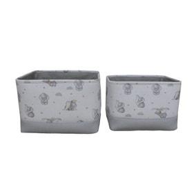 Disney Dumbo Twin Pack Soft Storage Basket