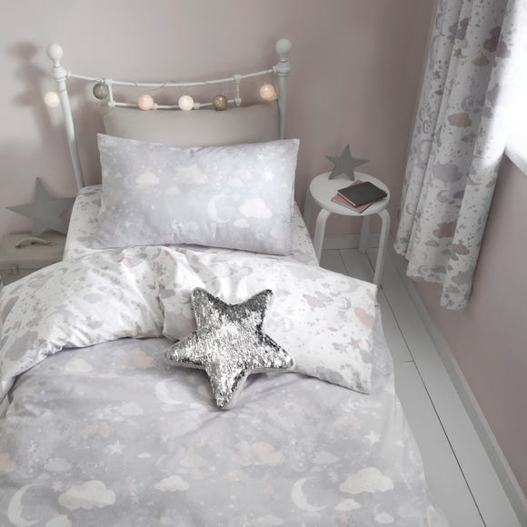 Constellation Reversible Duvet Cover and Pillowcase Set Grey undefined
