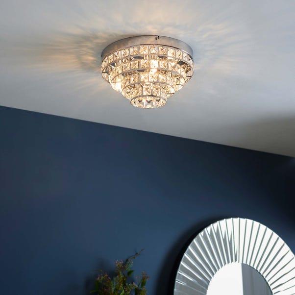 Endon Motown 4 Light Flush Ceiling Fitting Chrome