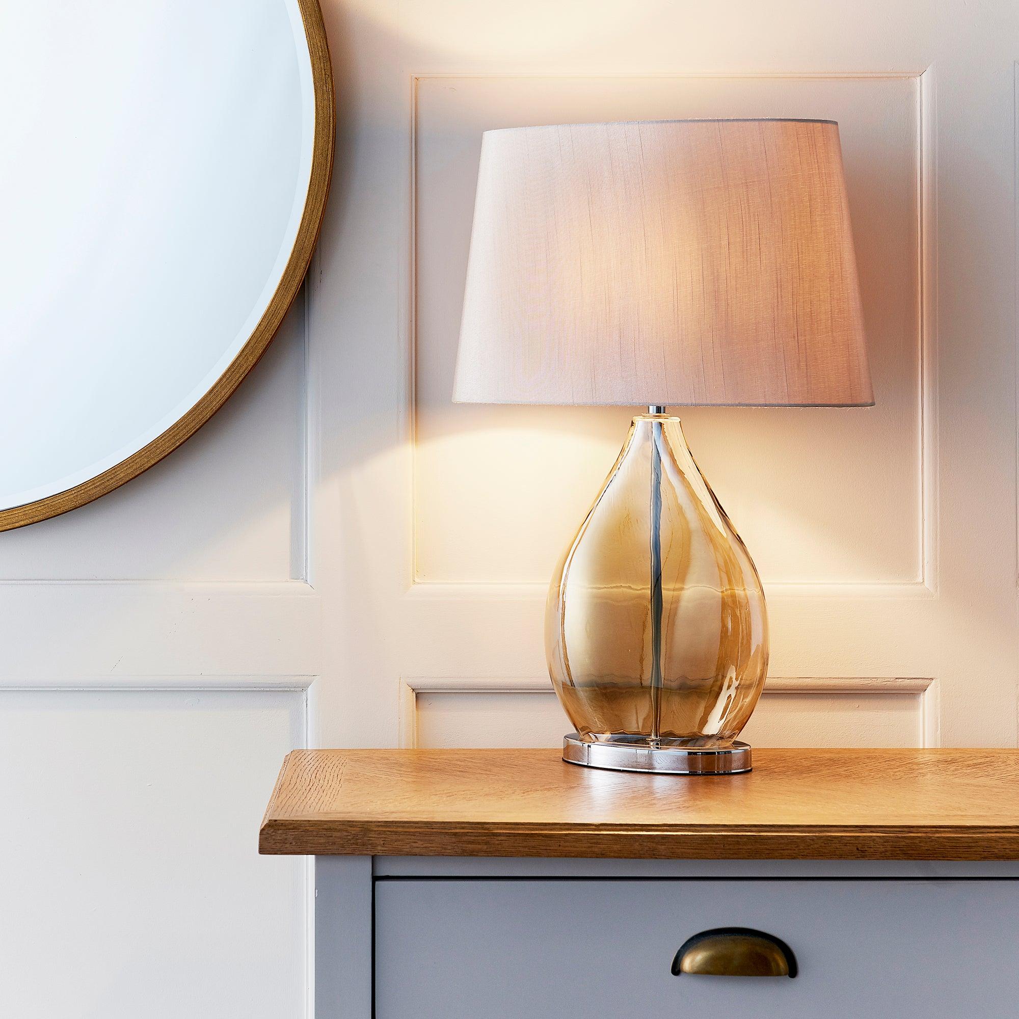 Vogue Kew Smoked Table Lamp Gold