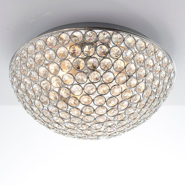 Endon 3 Light Chryla Crystal Flush Ceiling Fititng Chrome